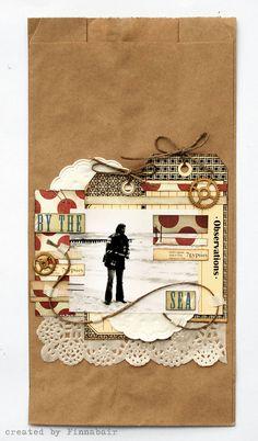 Scrapbook page on brown paper bag!