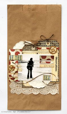 Scrapbook page on brown paper bag!