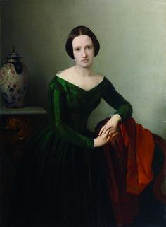 Giacomo Trecourt - Ritratto di Beatrice (Bice) Presti Tasca - 1845 circa) - Accademia Carrara di Bergamo Pinacoteca - percorso Donne