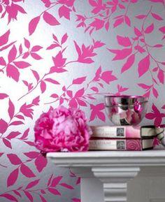 Midsummer Pink Floral Wallpaper - eclectic - wallpaper - Graham & Brown