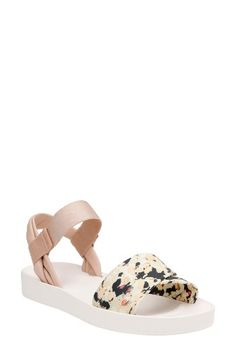 Free shipping and returns on Clarks® Seanna Sun Sandal (Women) at Nordstrom.com. Abstract floral patterns serve as the highlight of a minimalist two-strap sandal featuring a contoured, well-cushioned footbed.