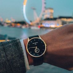 Our SL Black Sea and a perfect London evening view. ❤️⚓️⌚️. Thanks @mi.london. #getAnchored #signatureline #blacksea #sapphireglass  #Regram via @paul_hewitt