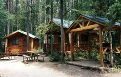 SleepingCabins glacier campground in Montana