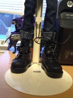 THE STUDIO COMMISSARY: Awesome shoes! Some worn by Gene, some by others (pic heavy)  -  (9 PICS)  -  Posted by Karen in NC [Email User] on February 15, 2016, 4:48 pm.  This picture: Coolest. Boots. Ever. On Jamieshow Jenny MSD BJD.