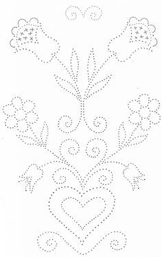 Tin Punch Patterns :: P 1143 Hearts and Flowers No.1 12x20 - Pierced Tin Designs