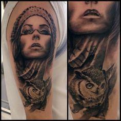 tattoo realismo sombra realizado por daniel rozo en canvas tattoo studio