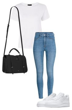 """Untitled #45"" by nathali-777 on Polyvore featuring Topshop, H&M, NIKE and Yves Saint Laurent"