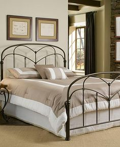 Tamara Hazelnut Queen Bed, Metal Bed Frame - Beds - furniture - Macy's