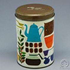 コーヒー缶 (コーヒー用品) (デンマーク製)