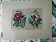 Antique Hand Painted Berlin Woolwork Embroidery Chart- G. E. Falbe | eBay
