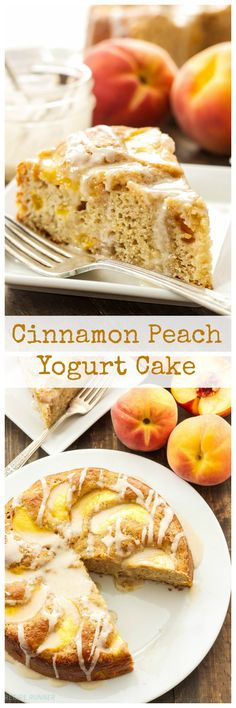 Cinnamon Peach Yogurt Cake | Moist, lightened up cinnamon cake full of ...