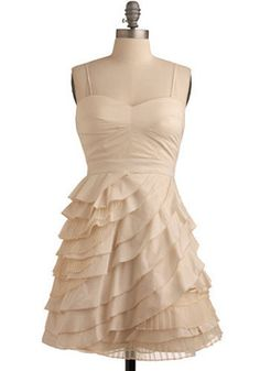 short alternative wedding bridal dress affordable.  Baklava Beauty Dress, #ModCloth