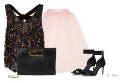 """""""Party Time"""" by ksims-1 ❤ liked on Polyvore featuring Ballet Beautiful, Monique Lhuillier, Michael Kors, Gunne Sax By Jessica McClintock and Kate Spade"""