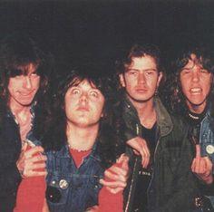 Cliff Burton, Lars Ulrich, Dave Mustaine and James Hetfield