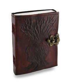 """Large Widsom_Of_Tree Embossed Handmade Genuine Leather Journal Diary 7"""" by 5"""" - Coptic Bound with Lock Closure by PAHandmadeJournal on Etsy https://www.etsy.com/listing/236442509/large-widsomoftree-embossed-handmade"""