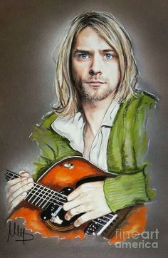 Kurt Cobain fan art and quotes: If you ever need anything please don't hesitate to ask someone else first. Melanie D Art Fine Art America Kurt Cobain Art, Kurt Cobain Photos, Nirvana Kurt Cobain, Rock And Roll, Nirvana Art, Rock Poster, Arte Pop, Rock Art, Rock Music
