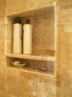 Shower Box w/ soap/razor shelf