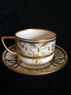 Pickard Hand Painted Artist signed Cup & Saucer #Pickard