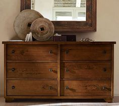 Adorable pottery barn dresser extra wide with 6 drawers