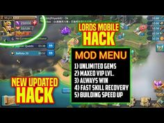 Lords Mobile Hack 2020 Updated — How to Get Unlimited Gold, Timber, Stone, Food, Ore & Stamina No Survey No Verification Lords Mobile Gems hack — you can Get free 9999999 GEMS for android and ios… Cheat Online, Hack Online, Mobile Generator, Point Hacks, Game Resources, Gaming Tips, Android Hacks, Free Gems, Mobile Game