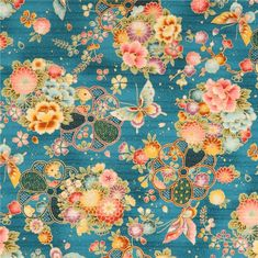 http://www.kawaiifabric.com/en/p11339-blue-structured-cotton-satin-colorful-flower-butterfly-fabric-Cosmo.html