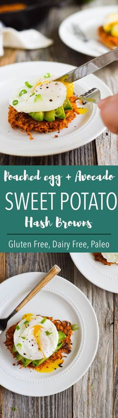 Up your brunch game with sweet potato rounds, eggs + avocado! {Gluten Free, Dairy Free, Paleo} (Whole 30 Recipes Sweet Potato)