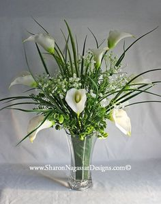 calla lily centerpiece | Real Touch Silk Flowers - Wedding Table Centerpieces, Altar, Arbor ...