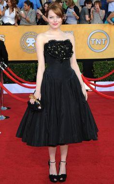 Old Hollywood glamour: Emma Stone in #AlexanderMcQueen #VanityFair