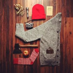 A beanie, a sweater, perfume, socks, a camera and other useful stuff. Waiting for you till December will come.