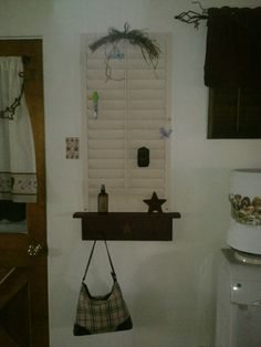 So cute! I got the shutter from restore and the shelf from country joy. It came out so nice.