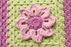 Water Lily Afghan Square - Free Crochet Pattern