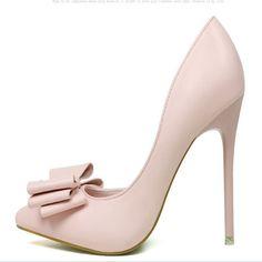 wedding shoes high heels woman sapato feminino women chaussure femme scarpe donna pumps heel talon 2016 bow stiletto escarpin