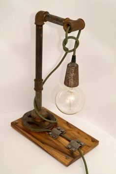 Steampunk Table Lamp Steampunk lighting industrial pipe