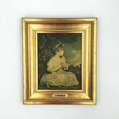 Vintage Framed Picture. Small Gold Frame. Joshua Reynolds #shopnow #cadredore #petittableau #miniature #cadre #salonparisien #reynolds #joshuareynolds #theageofinnocence #nurserydecor #babyshowergift #reproduction #frenchframe #doré #goldframe #gilded #frenchdecor #print #artprint #shabbychic #etsyshop #vintageshop #madeinfrance #boudoirdecor #latelierdenanah #fleamarket #brocante  #ideecadeau #bohostyle #homedecor #vintage #retro #antiqueframe #frenchantiques #frenchvintage…