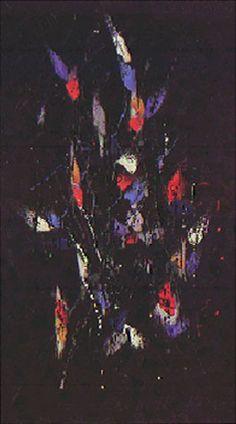 Flora Noturna 1959 | Antonio Bandeira óleo sobre tela, c.i.d. 162.40 x 96.80 cm Coleção Museu de Arte Contemporânea da Universidade de São Paulo