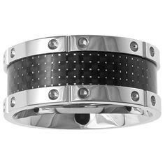 A.R.Z Steel Gents Steel Ring with Carbon Fibre Inlay Carbon Fiber, Steel, Rings, Ring, Jewelry Rings, Steel Grades, Iron