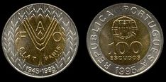 100 Escudos 1995 Fao