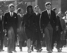 Funeral Fashion at the Met: Jacqueline Kennedy in the funeral procession for her husband, JFK.