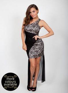 Grey Floral One Shoulder Dress with Hi-Lo Draped Hem,  Dress, one shoulder dress  floral print, Chic