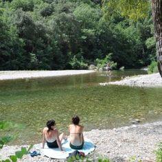 Camping les Plans, cevennes Frankrijk, rivier en zwembad