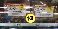 Jimmy Dean Frozen Sausage Links – $3 At Publix