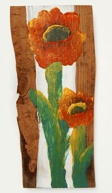fingertip painting on found wood tutorial from the book Art Lab For Kids