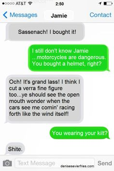 My new Outlander Today meme: Jamie&Claire Texts: #10 denisesevierfries.com