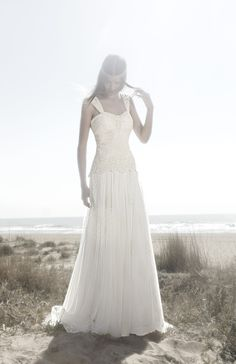 maybe less structure  Bohemian wedding dress
