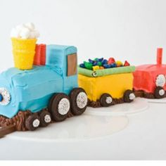 Train Birthday Cake Design
