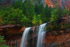 Emerald Pools Falls 11 x 14 Print by dawn2dawnphotography on Etsy, $25.00