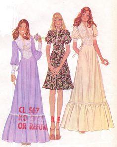 70s McCalls Sewing Pattern 4381 Womens Prairie by CloesCloset, $12.00