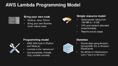 Lambda Programming Model