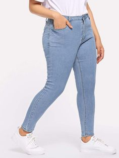 b9d61c0910b Plus Pocket Patched Crop Skinny Jeans  fashion  clothing  shoes  accessories   womensclothing  jeans (ebay link)