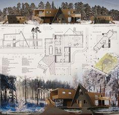 Presentation Board Design, Architecture Presentation Board, Architecture Board, Architecture Portfolio, Architecture Details, Landscape Architecture, Landscape Design, Architectural Presentation, Architectural Section